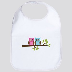Two Owls on a Branch Bib