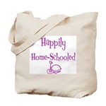 happily home schooled Tote Bag