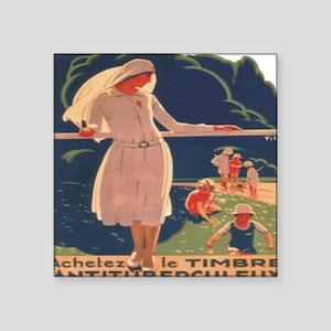 French TB fund raising poster, circa 1920 Square S