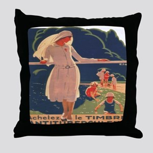 French TB fund raising poster, circa 1920 Throw Pi