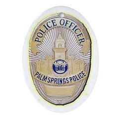 Palm Springs Police Ornament (Oval)