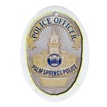 Palm Springs Police Ornament (Oval)