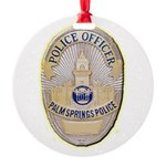 Palm Springs Police Round Ornament