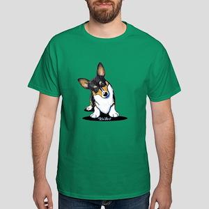 KiniArt Tricolor Corgi Dark T-Shirt