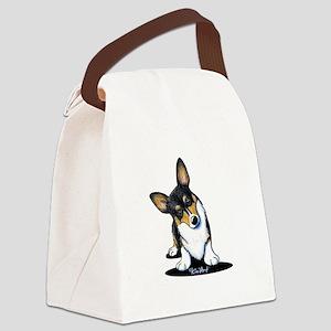 KiniArt Tricolor Corgi Canvas Lunch Bag