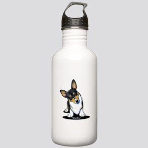 KiniArt Tricolor Corgi Stainless Water Bottle 1.0L