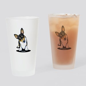 KiniArt Tricolor Corgi Drinking Glass