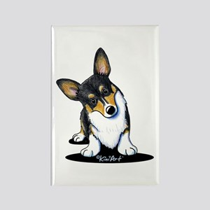 KiniArt Tricolor Corgi Rectangle Magnet