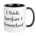 I Think, Therefore Homeschool Mug Mugs