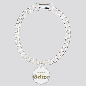 Id Rather Be...Belize.png Charm Bracelet, One Char