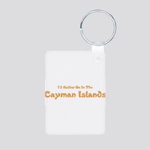 Id Rather Be...Caymans Aluminum Photo Keychain