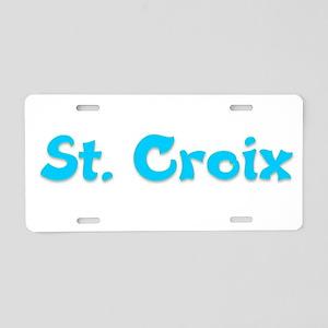 St. Croix Aluminum License Plate