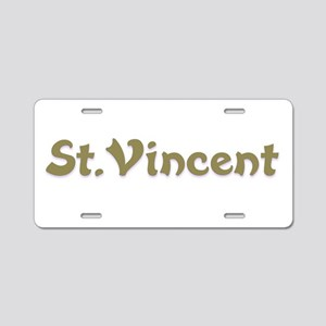St.Vincent Aluminum License Plate