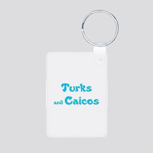 Turks and Caicos Aluminum Photo Keychain