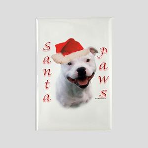 Santa Paws Bull Terrier Rectangle Magnet