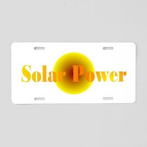 Solar Power Aluminum License Plate
