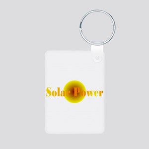 Solar Power Aluminum Photo Keychain