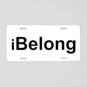 iBelong Aluminum License Plate