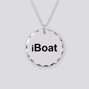 iBoat Necklace Circle Charm