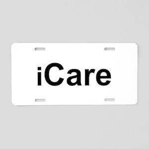 iCare Aluminum License Plate