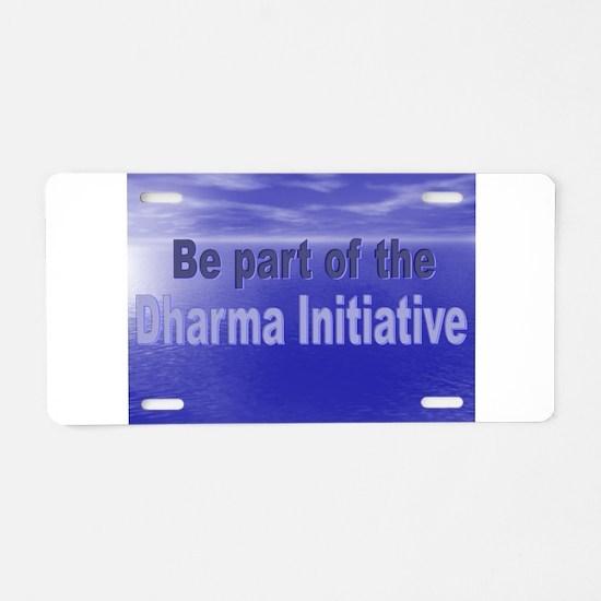 Dharma.png Aluminum License Plate