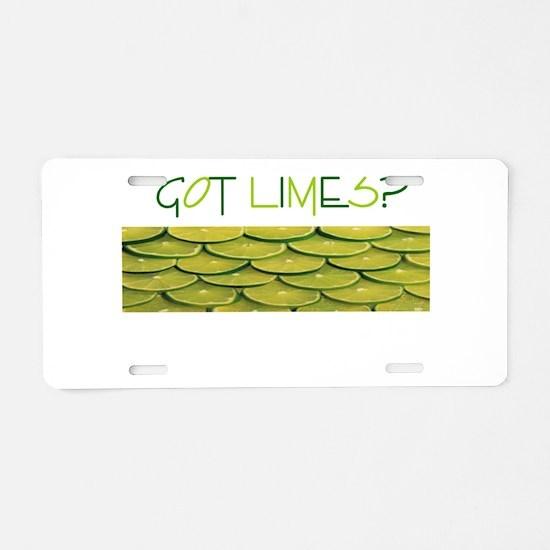 Got Limes.png Aluminum License Plate