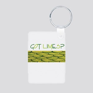 Got Limes Aluminum Photo Keychain