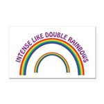 Intense Like Double Rainbows Rectangle Car Magnet