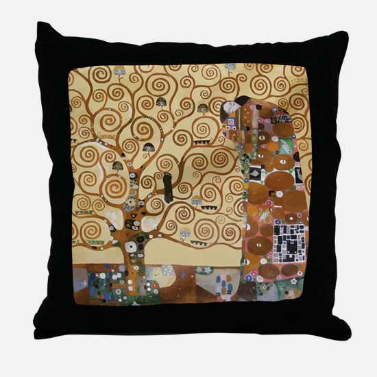 Funny Klimt Throw Pillow