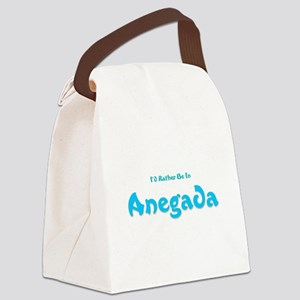 Id Rather Be...Anegada Canvas Lunch Bag