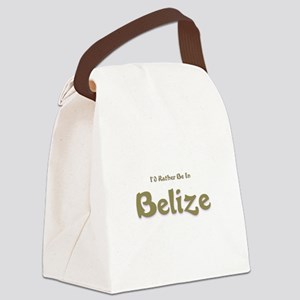 Id Rather Be...Belize Canvas Lunch Bag
