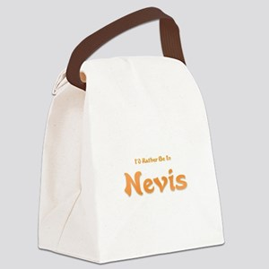 Id Rather Be...Nevis Canvas Lunch Bag