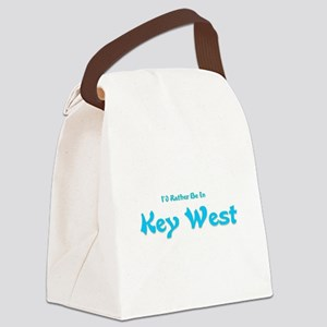 Id Rather Be In Key West Canvas Lunch Bag