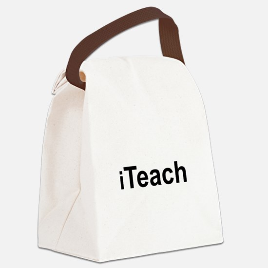 iTeach.png Canvas Lunch Bag