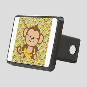 Cute Cartoon Monkey Rectangular Hitch Cover