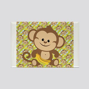 Cute Cartoon Monkey Rectangle Magnet