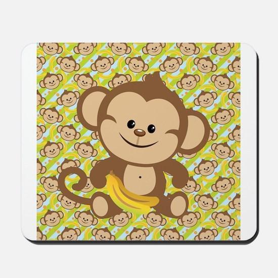Cute Cartoon Monkey Mousepad