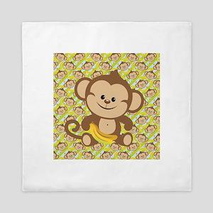 Cute Cartoon Monkey Queen Duvet
