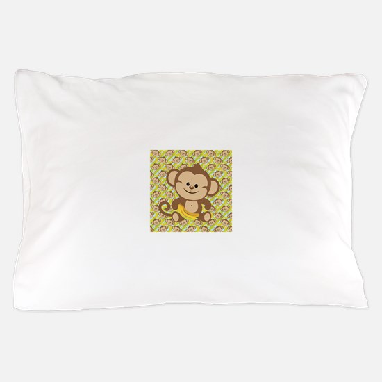 Cute Cartoon Monkey Pillow Case