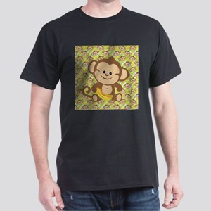 Cute Cartoon Monkey Dark T-Shirt