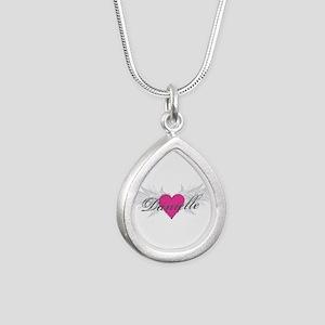 My Sweet Angel Danielle Silver Teardrop Necklace