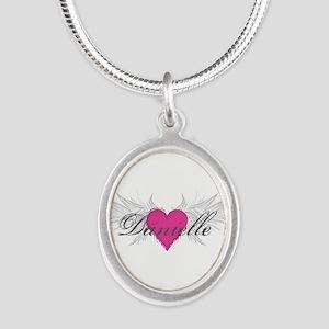 My Sweet Angel Danielle Silver Oval Necklace