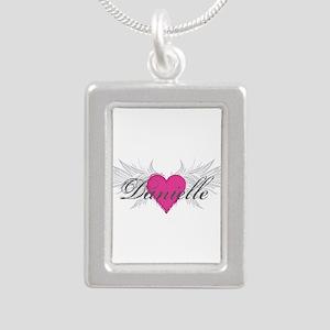 My Sweet Angel Danielle Silver Portrait Necklace