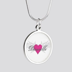 My Sweet Angel Danielle Silver Round Necklace