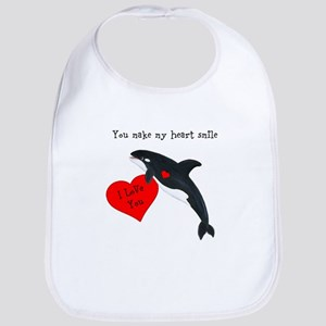 Personalized Whale Bib