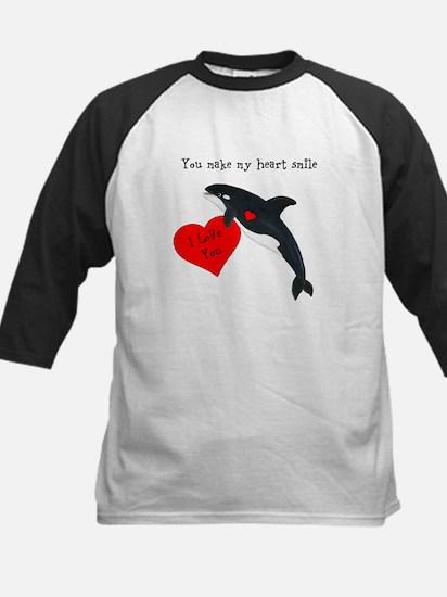 Personalized Whale Kids Baseball Jersey