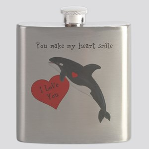 Personalized Whale Flask