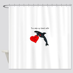 Personalized Whale Shower Curtain