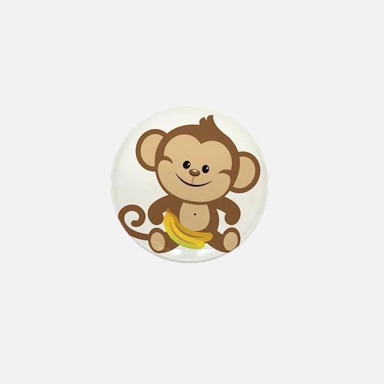 Cute Cartoon Monkey Mini Button