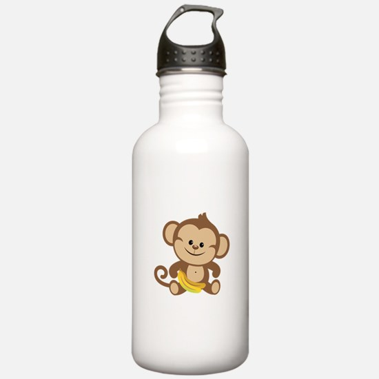 Cute Cartoon Monkey Water Bottle